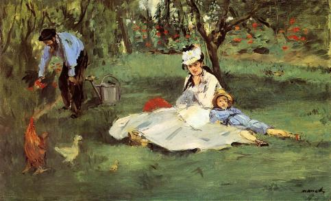 Édouard Manet - The Monet Family in the Garden – 1874
