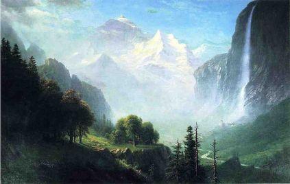Albert Bierstadt - Staubbach Falls Near Lauterbrunnen Switzerland