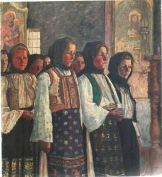 Camil Ressu - Taranci in biserica