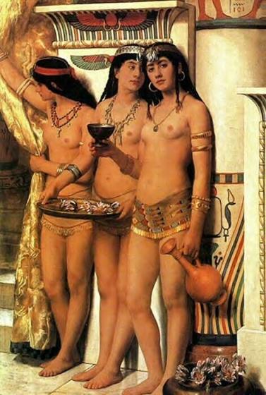 John Collier - The Pharaoh's Handmaidens
