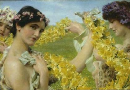 Sir Lawrence Alma-Tadema - When Flowers return