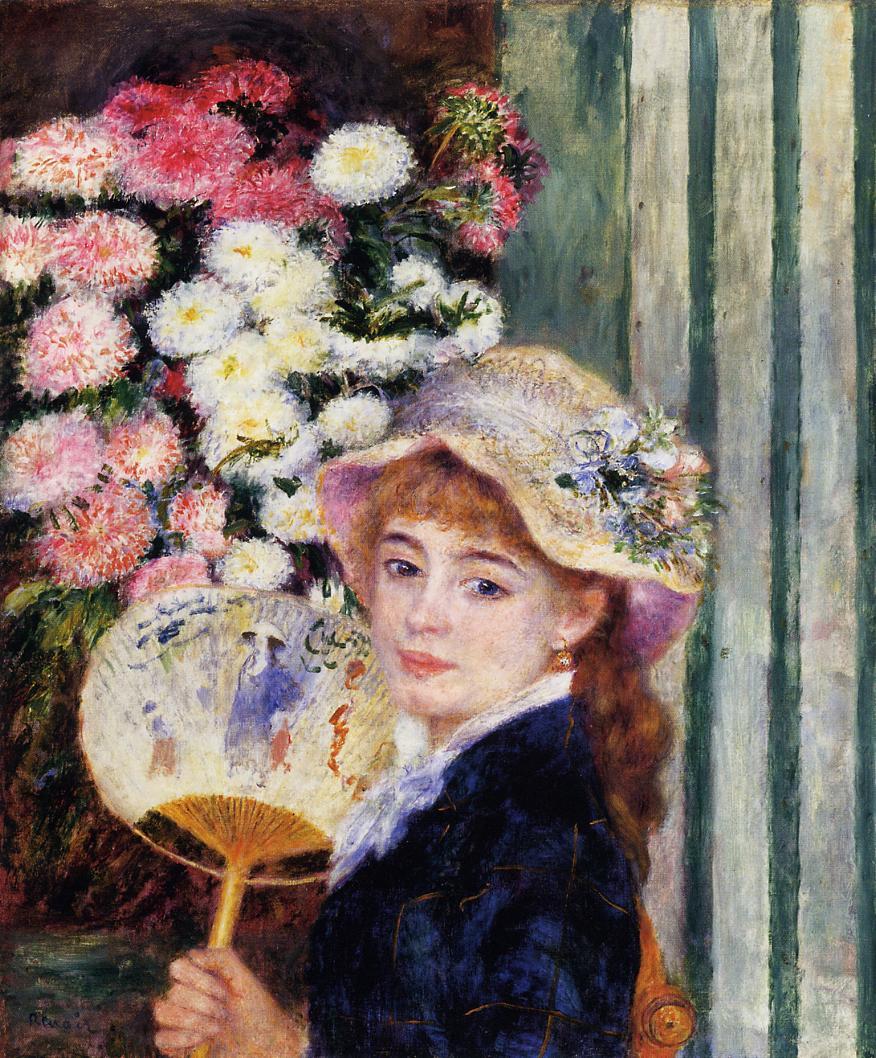 Consider, Renoir girl with flowers has surprised