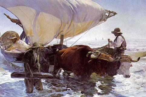 Joaquin Sorolla - The Return of the Fishing