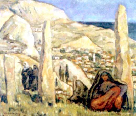 Nicolae Dărăscu - Cimitir tătărăsc la Balcic