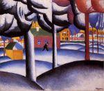 Kazimir Malevich - Landschaft (Der Winter)
