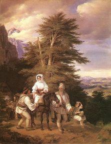 Miklós Barabás - Mocani sălişteni îndreptându-se spre târg