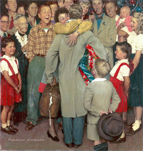 Norman Rockwell - Christmas Homecoming, 1948.