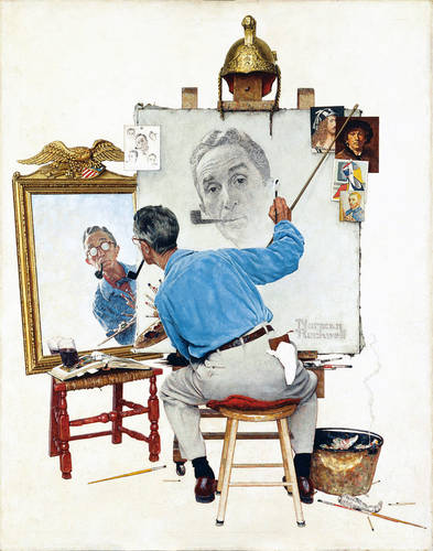 Norman Rockwell - Triple Self-Portrait, 1960.