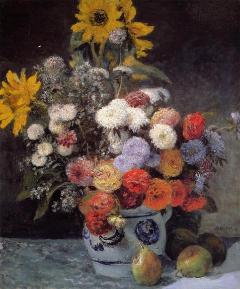 Pierre-Auguste Renoir - Mixed Flowers in an Earthenware Pot
