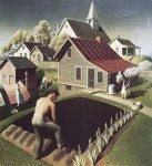Grant Wood  - Spring in Town