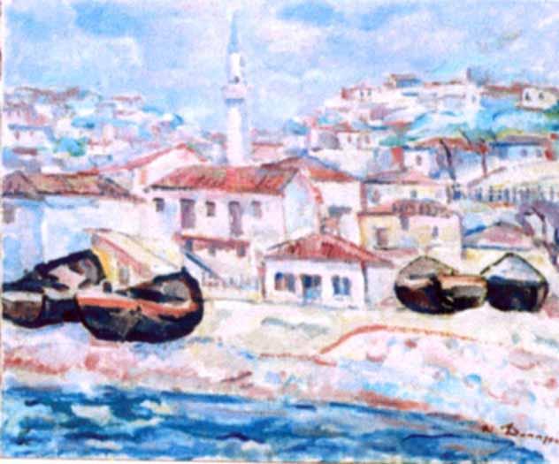 Nicolae Dărăscu - Vederea Balcicului dinspre mare