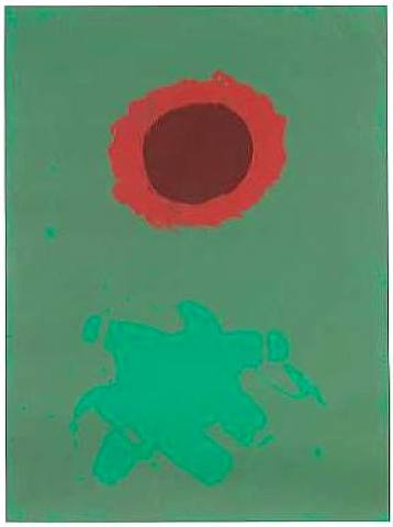 Adolph Gottlieb - Chrome Green