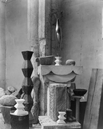 Edward Steichen - Brancusi's studio 1920