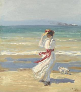 Sir John Lavery - A Windy Day
