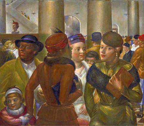 Kenneth Hayes Miller - Bargain Hunters 1940