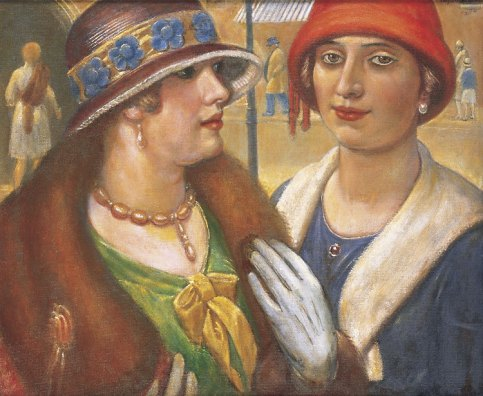 Kenneth Hayes Miller - Casual meeting, 1928