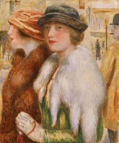 Kenneth Hayes Miller - The Shoppers, 1920