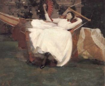 Sir John Lavery - The Red Fan