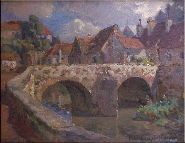 Colin Campbell Cooper-The Village of Castle Combe in England