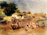 Theodor Aman.Copii jucând hora