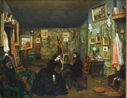 Theodor Aman - In atelierul artistului
