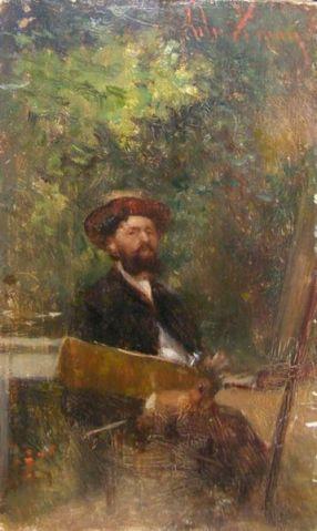 Theodor Aman.In fata sevaletului