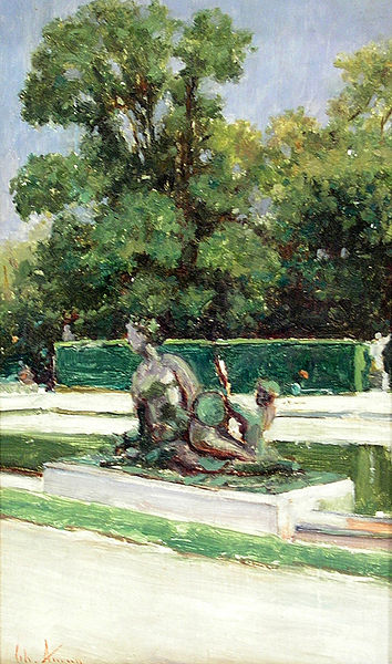 Theodor Aman.Jardin du Luxembourg