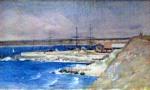 Theodor Aman.Portul Constanţa
