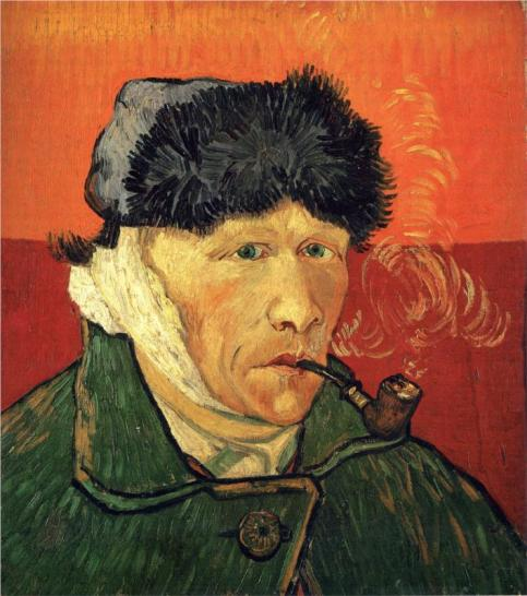 Vincent van Gogh - Self Portrait with Bandaged Ear, 1889