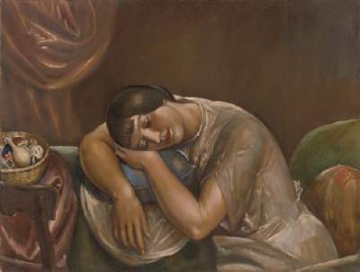 Kenneth Hayes Miller-Woman Sleeping