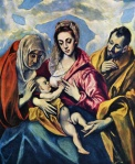 El Greco - The Holy Family with St Anne