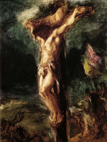 Eugène Delacroix.  Christ on the Cross (sketch)