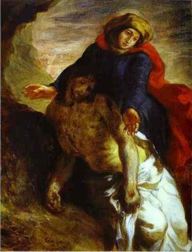 Eugène Delacroix. Pieta