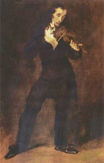 Eugène Delacroix.Paganini