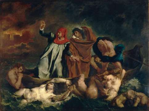 Eugène Delacroix. The Barque of Dante