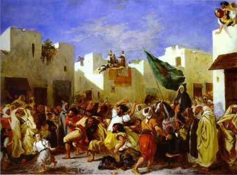 Eugène Delacroix. The Fanatics of Tangier