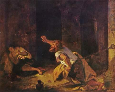 Eugène Delacroix - The Prisoner of Chillon