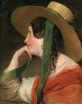 Friedrich von Amerling.Girl in Yellow Hat