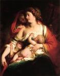 Friedrich von Amerling.Mother and children