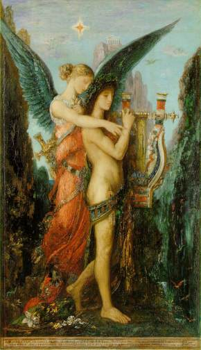 Gustave Moreau - Hesiod and the Muse