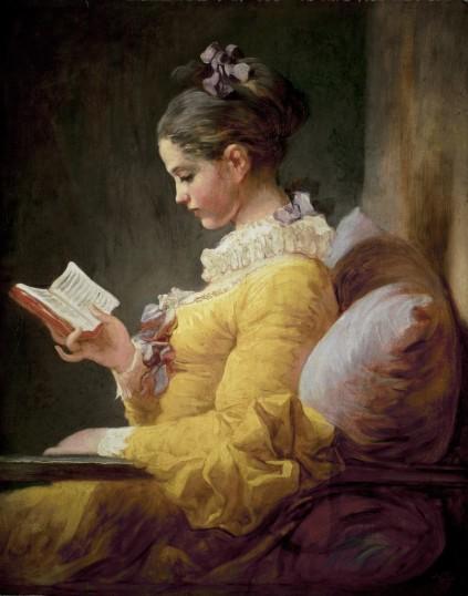 Jean-Honoré Fragonard - A Young Girl Reading