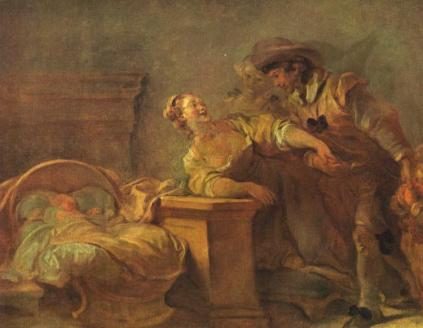 Jean-Honoré Fragonard - The Cradle of the Happy Family