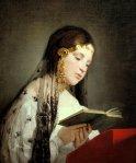 Friedrich von Amerling.Reading Girl