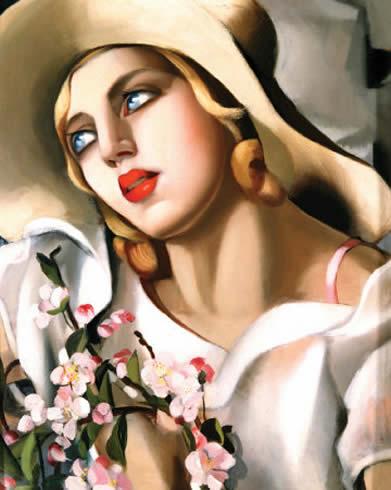 Tamara de Lempicka-Portrait-Fille