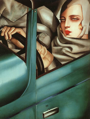 Tamara de Lempicka-Self Portrait and Bugatti