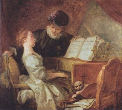 Jean-Honoré Fragonard - The musical lesson