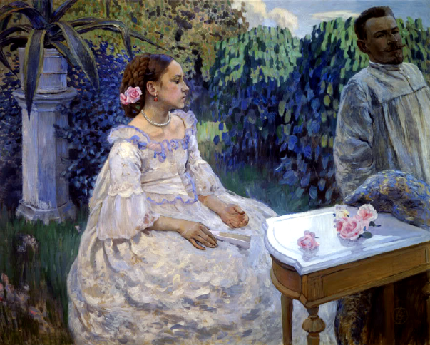 Victor Borisov-Musatov - Self-portrait with his sister