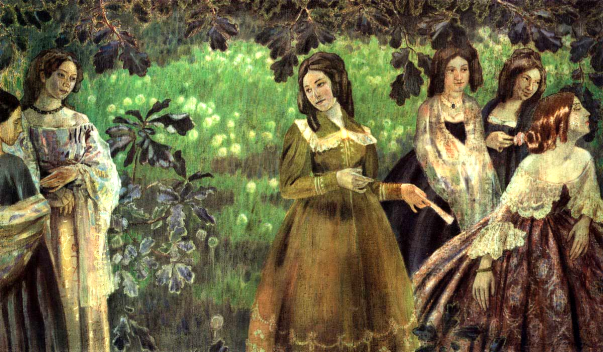 Victor Borisov-Musatov - The Emerald Necklace, 1904