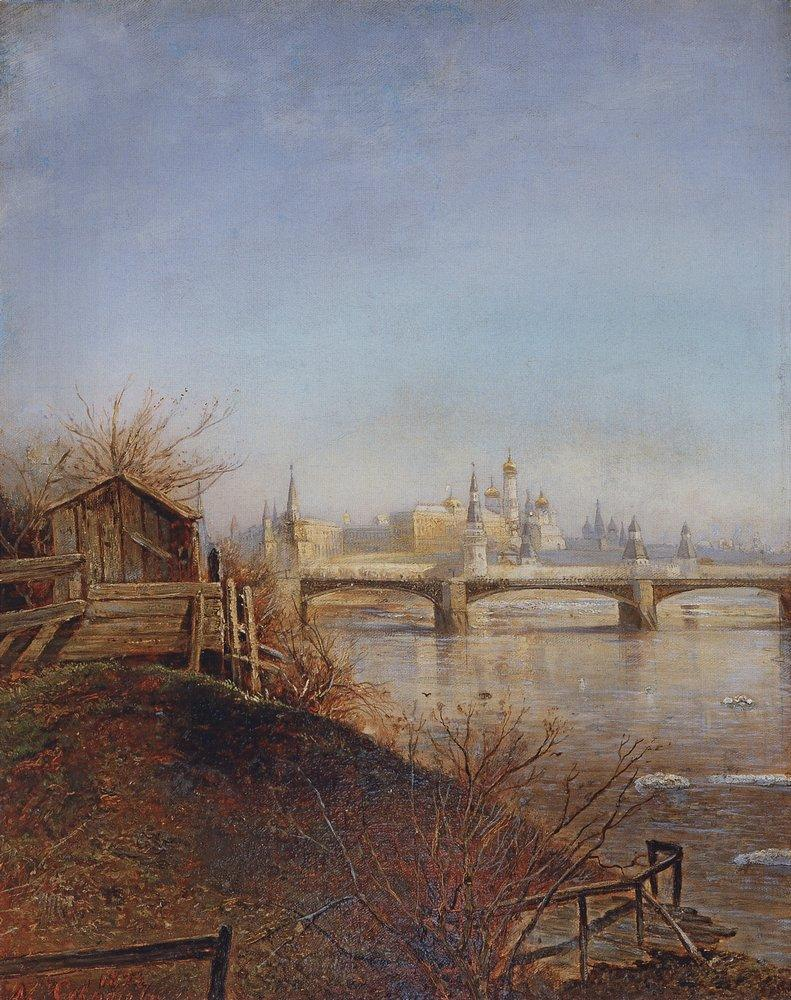 Alexei Savrasov - View of the Moscow Kremlin