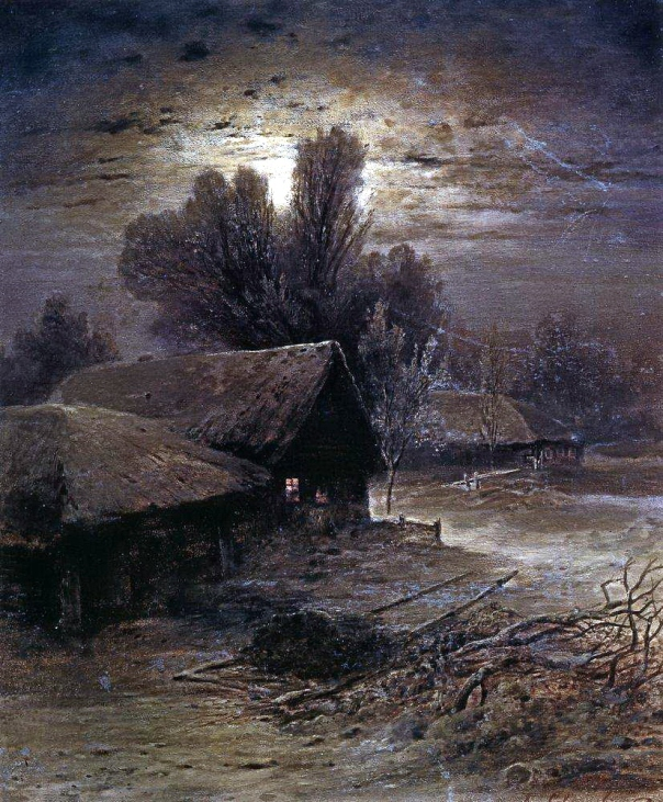 Alexei Savrasov - Winter Night